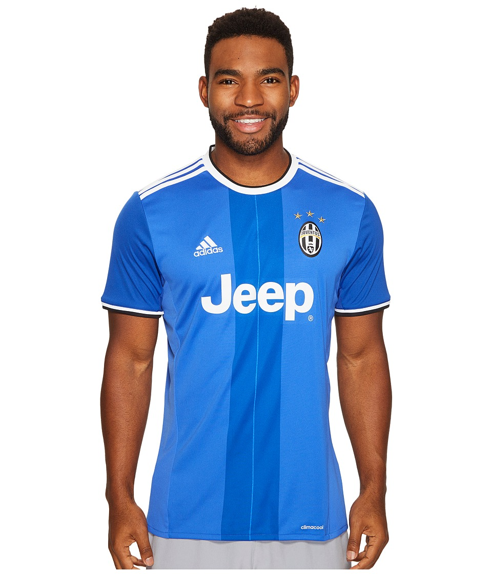adidas - Juventus Away Jersey (Vivid Blue/Victory Blue/White) Men's Short Sleeve Pullover