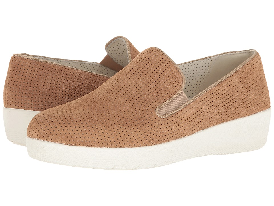 FitFlop - Superskate Perf (Soft Brown) Women's Shoes