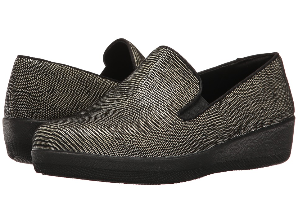 FitFlop - Superskate Lizard Print (Black) Women's Shoes