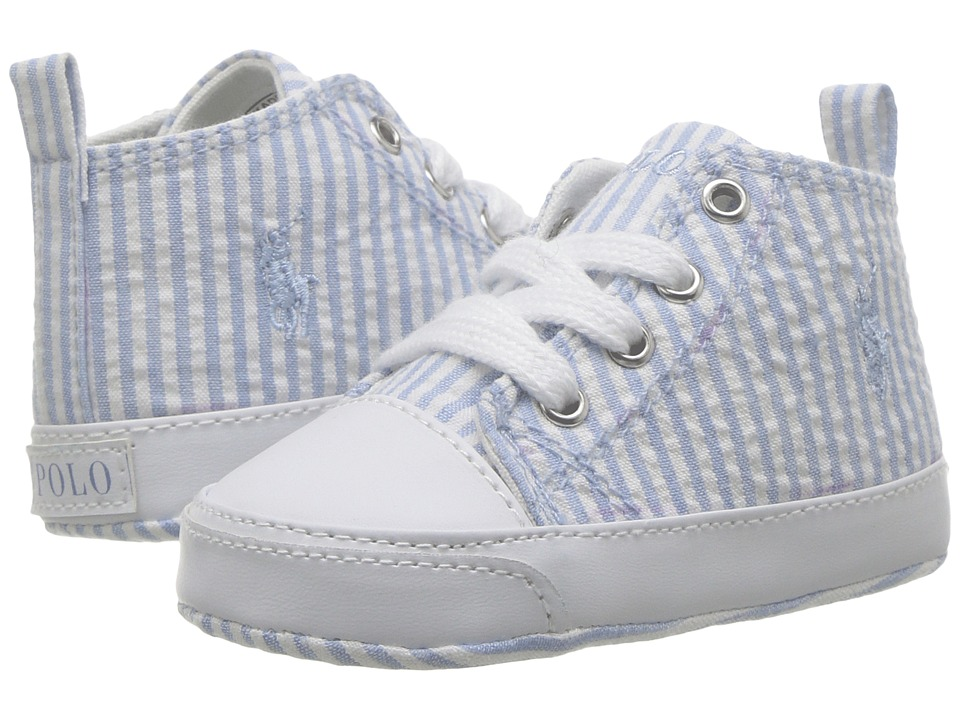 Polo Ralph Lauren Kids - Harbour Hi (Infant/Toddler) (Blue Seersucker/Blue) Kid's Shoes