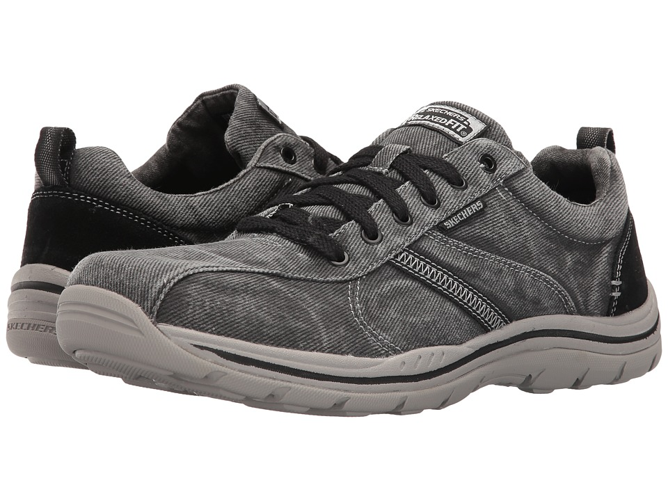 SKECHERS - Relaxed Fit Expected - Braiden (Dark Grey) Men's Shoes