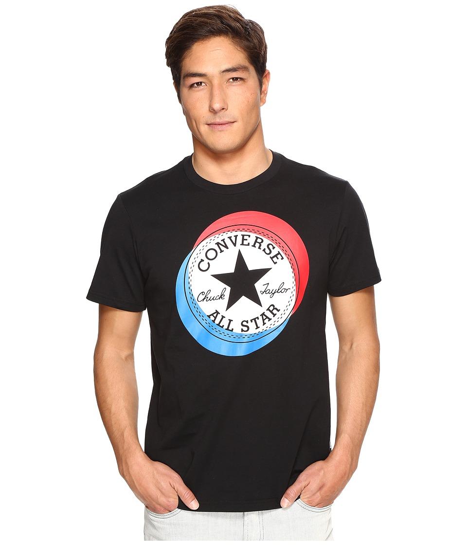 Converse - Large Circle Chuck Patch Short Sleeve Tee (Black) Men's T Shirt