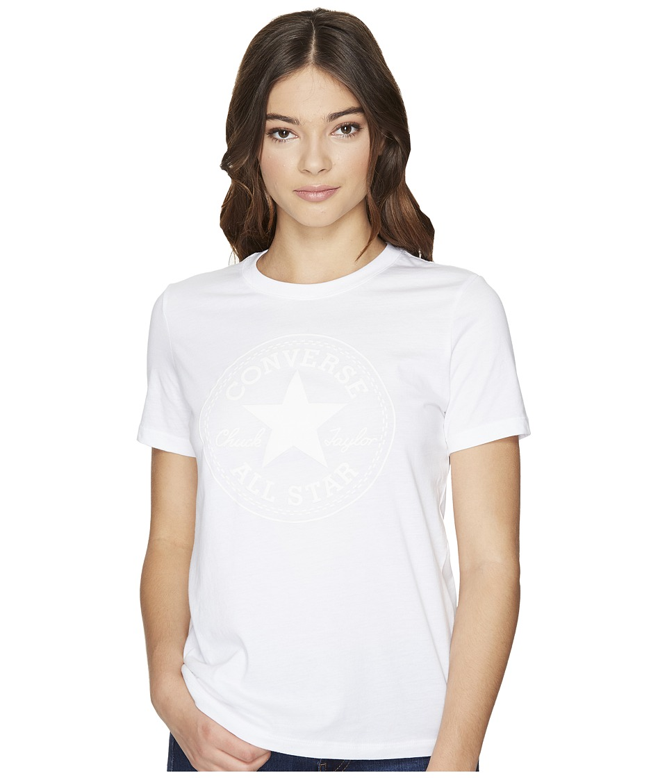 Converse - Puff Chuck Patch Short Sleeve Crew Tee (White) Women's T Shirt