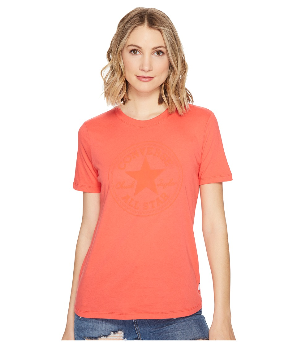 Converse - Puff Chuck Patch Short Sleeve Crew Tee (Ultra Red) Women's T Shirt