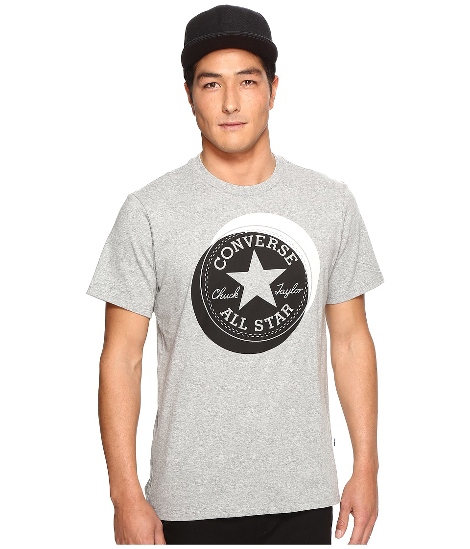 Converse - Large Circle Chuck Patch Short Sleeve Tee (Vintage Grey Heather) Men's T Shirt