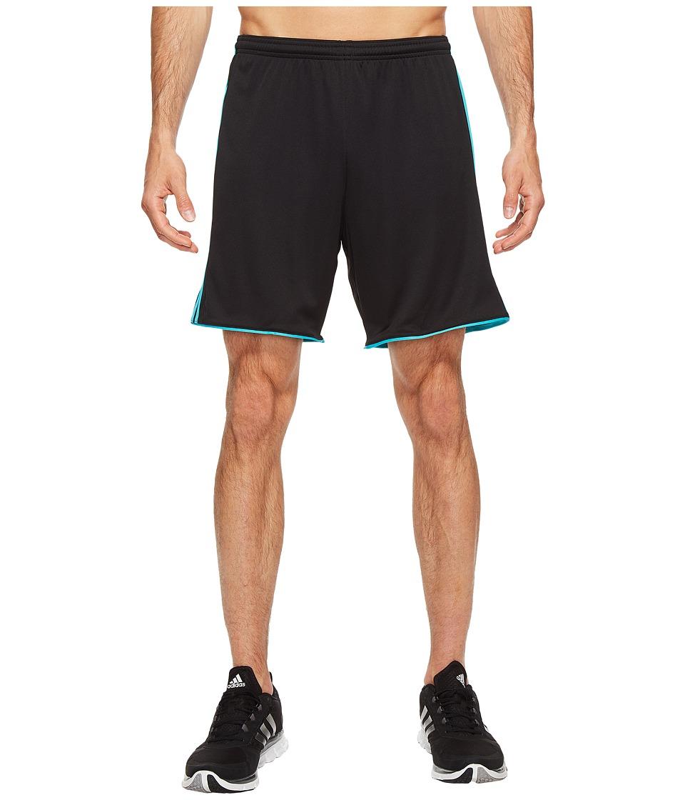 adidas - Tastigo 17 Shorts (Black/Energy Blue) Men's Shorts