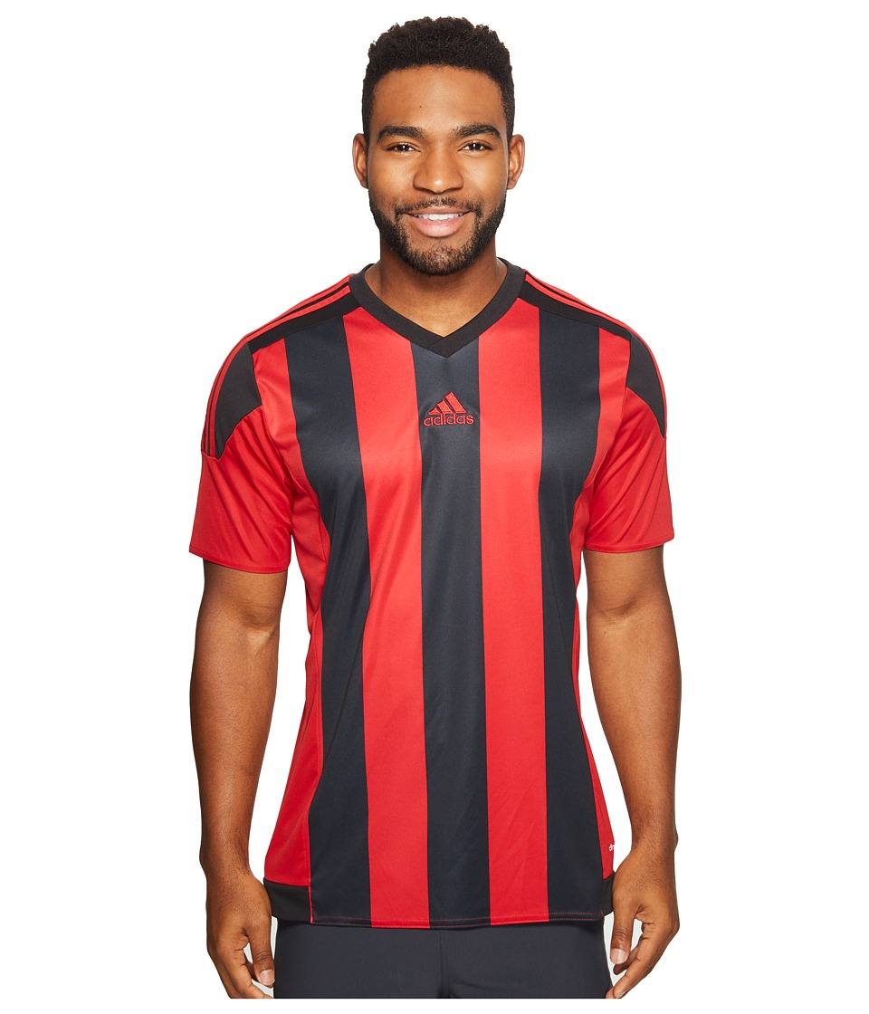 adidas - Striped 15 Jersey (Power Red/Black) Men's Short Sleeve Pullover