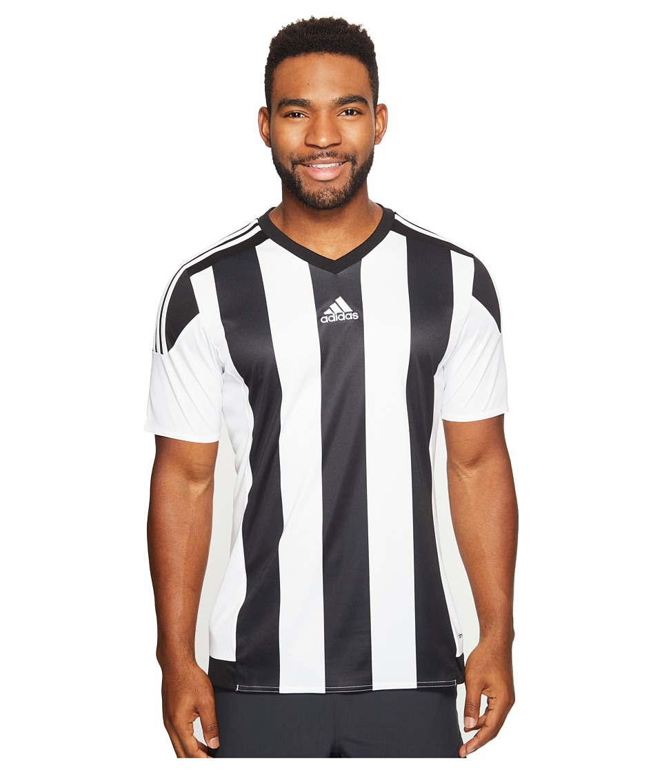 adidas - Striped 15 Jersey (Black/White) Men's Short Sleeve Pullover