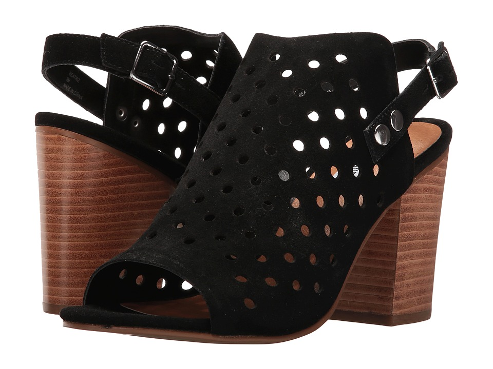 Steve Madden - Beatriz (Black Suede) Women's Toe Open Shoes
