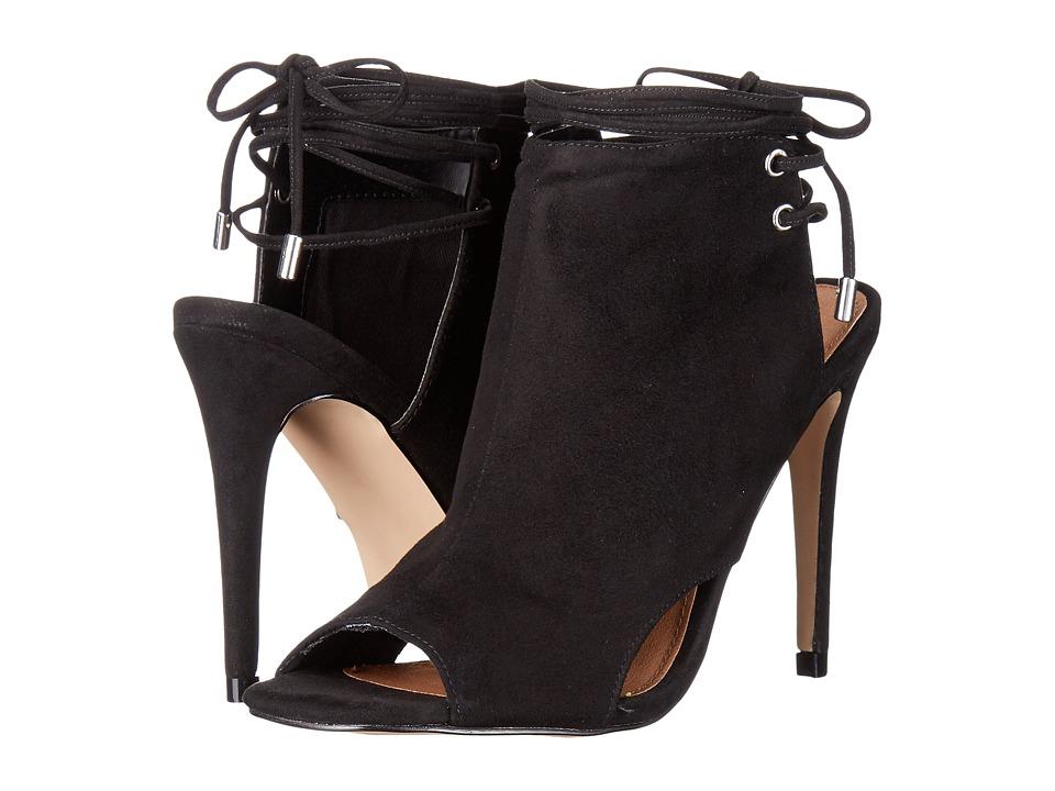 Steve Madden - Muddle (Black Suede) Women's Toe Open Shoes