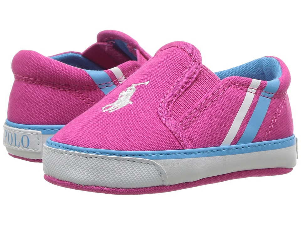 Polo Ralph Lauren Kids - Prezli (Infant/Toddler) (Pink Canvas/White Pony) Girl's Shoes