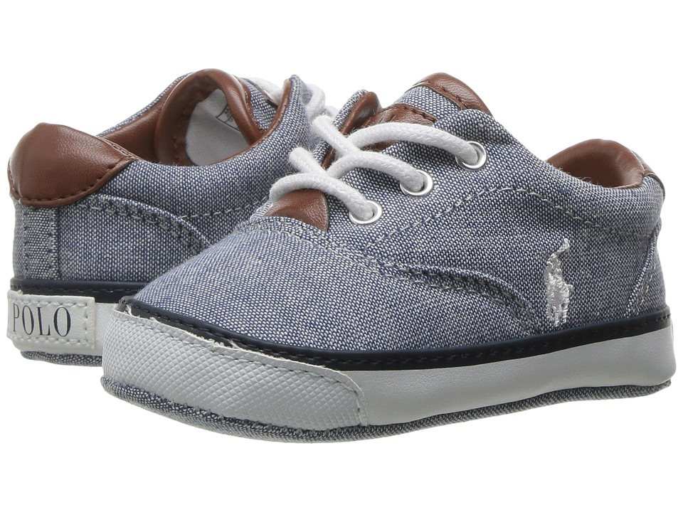 Polo Ralph Lauren Kids - Vaughn II (Infant/Toddler) (Blue Chambray/White) Kid's Shoes