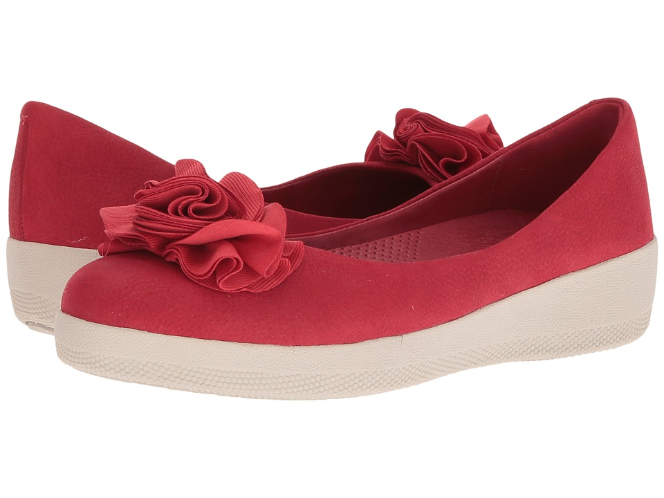 FitFlop Florrie Superballerina (Classic Red) Women