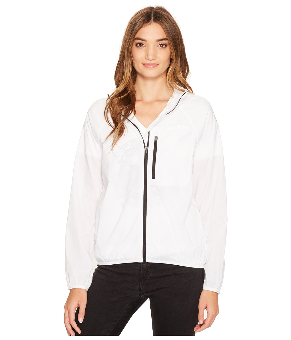 Converse - Windbreaker (White) Women's Coat