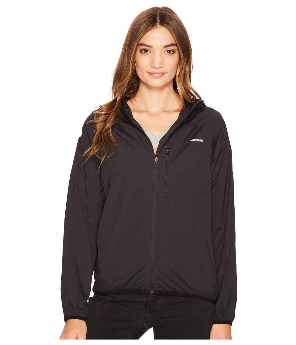 Converse - Windbreaker (Black) Women's Coat