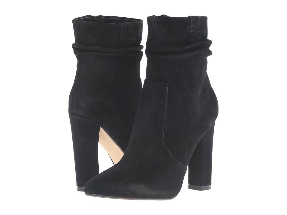 Steve Madden Cellini Black Suede Womens Dress Boots
