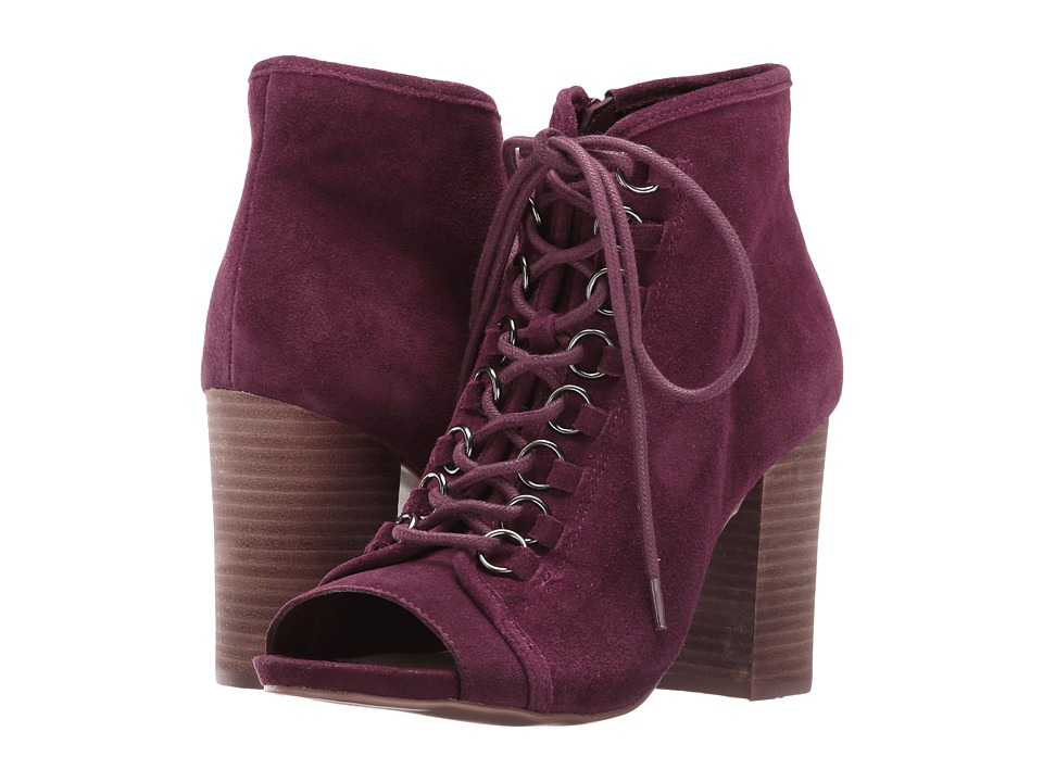 Steve Madden - Reply (Burgundy Suede) Women's Lace-up Boots