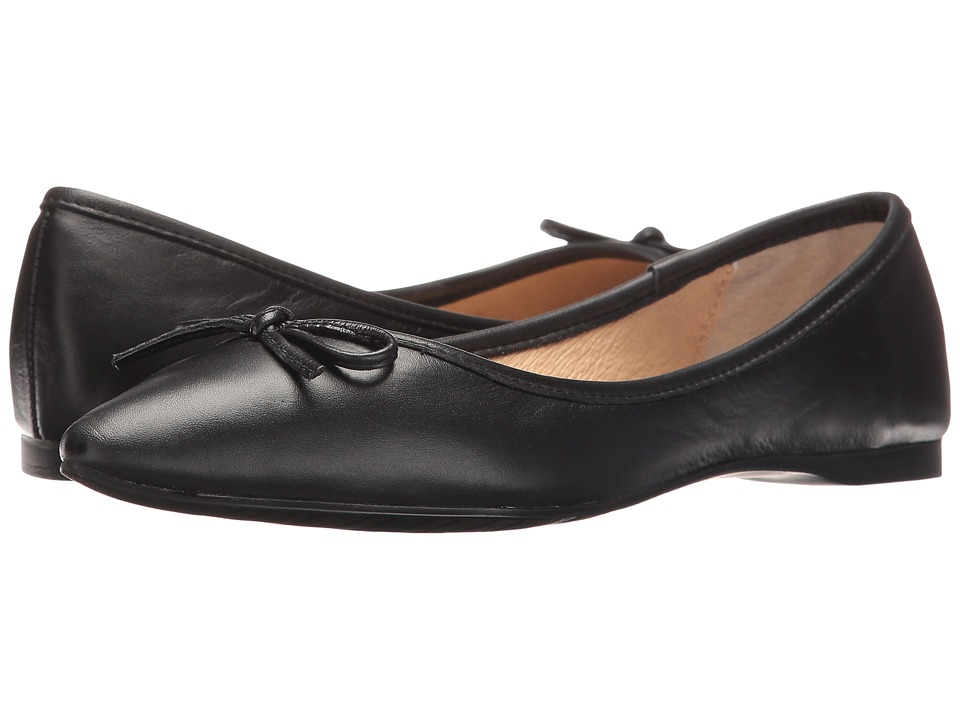 Steve Madden - Shyly (Black Leather) Women's Dress Flat Shoes