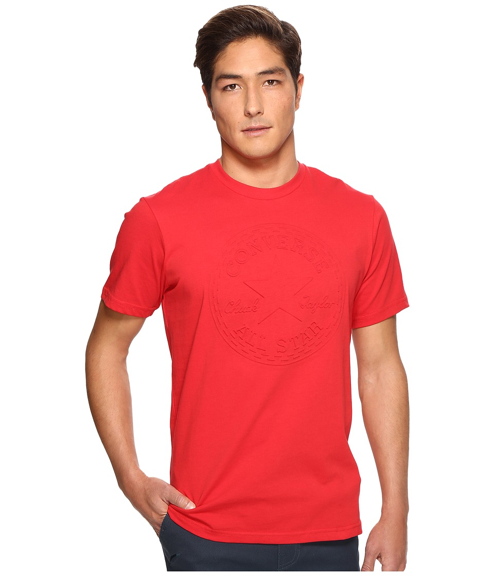 Converse - Embossed Chuck Patch Tee (Casino Red) Men's T Shirt