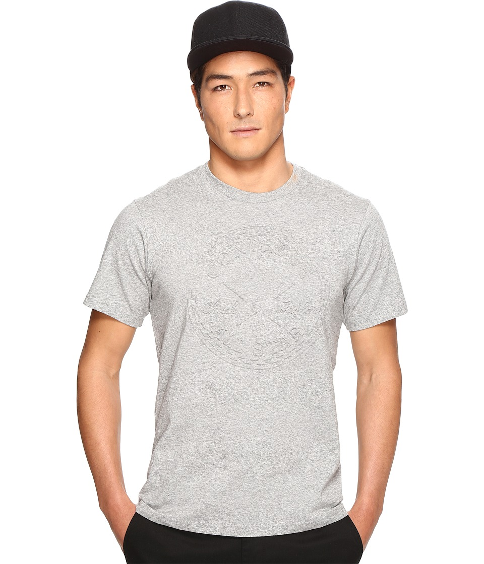 Converse - Embossed Chuck Patch Tee (Vintage Grey Heather) Men's T Shirt