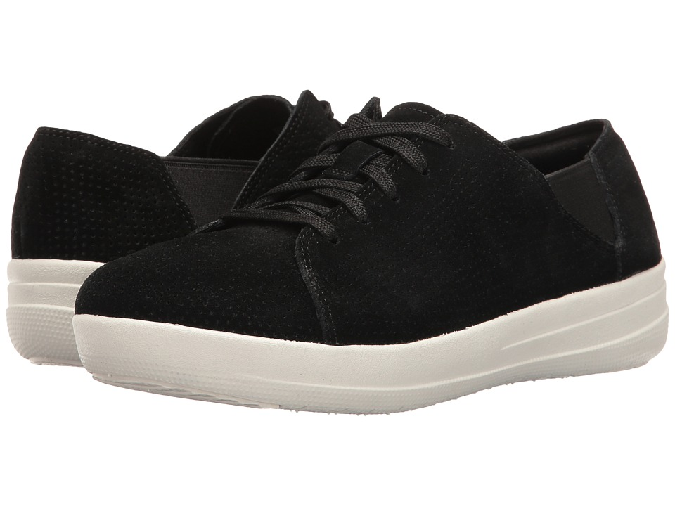 FitFlop - F-Sporty Lace-Up Sneaker Perf (Black) Women's Shoes