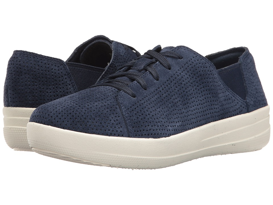 FitFlop - F-Sporty Lace-Up Sneaker Perf (Midnight Navy) Women's Shoes