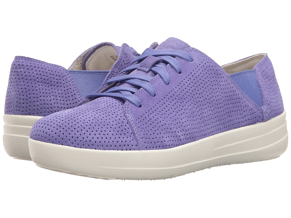 FitFlop - F-Sporty Lace-Up Sneaker Perf (Lavender Blue) Women's Shoes