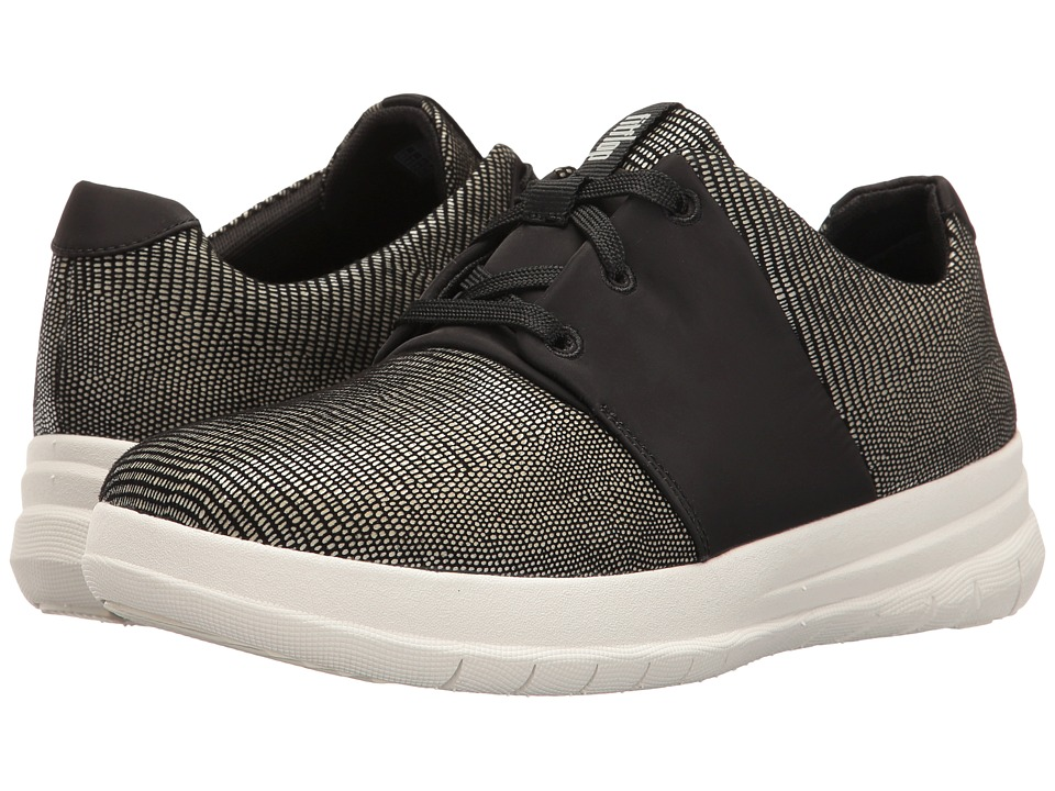 FitFlop - Sporty-Pop X Lizard Print Sneaker (Black) Women's Shoes