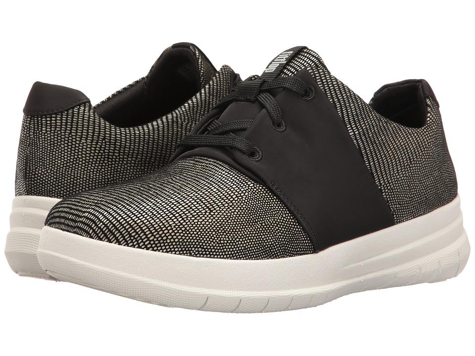 FitFlop - Sporty-Pop X Lizard Print Sneaker (Black) Women's Shoes
