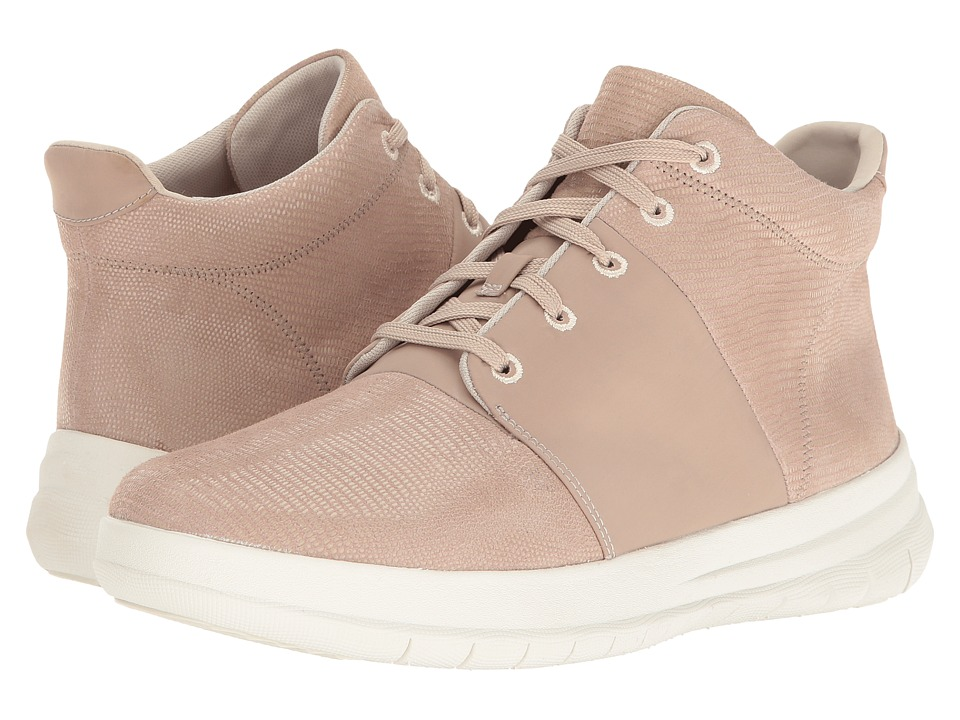 FitFlop - Sporty-Pop X Lizard Print High-Top (Nude Pink) Women's Shoes
