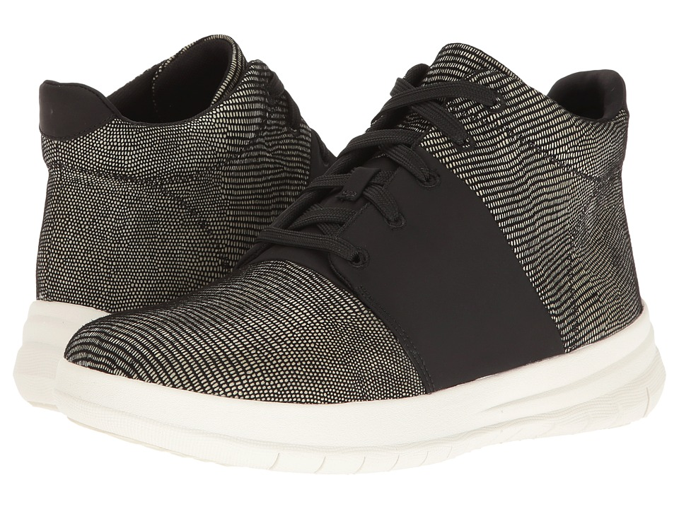 FitFlop - Sporty-Pop X Lizard Print High-Top (Black) Women's Shoes