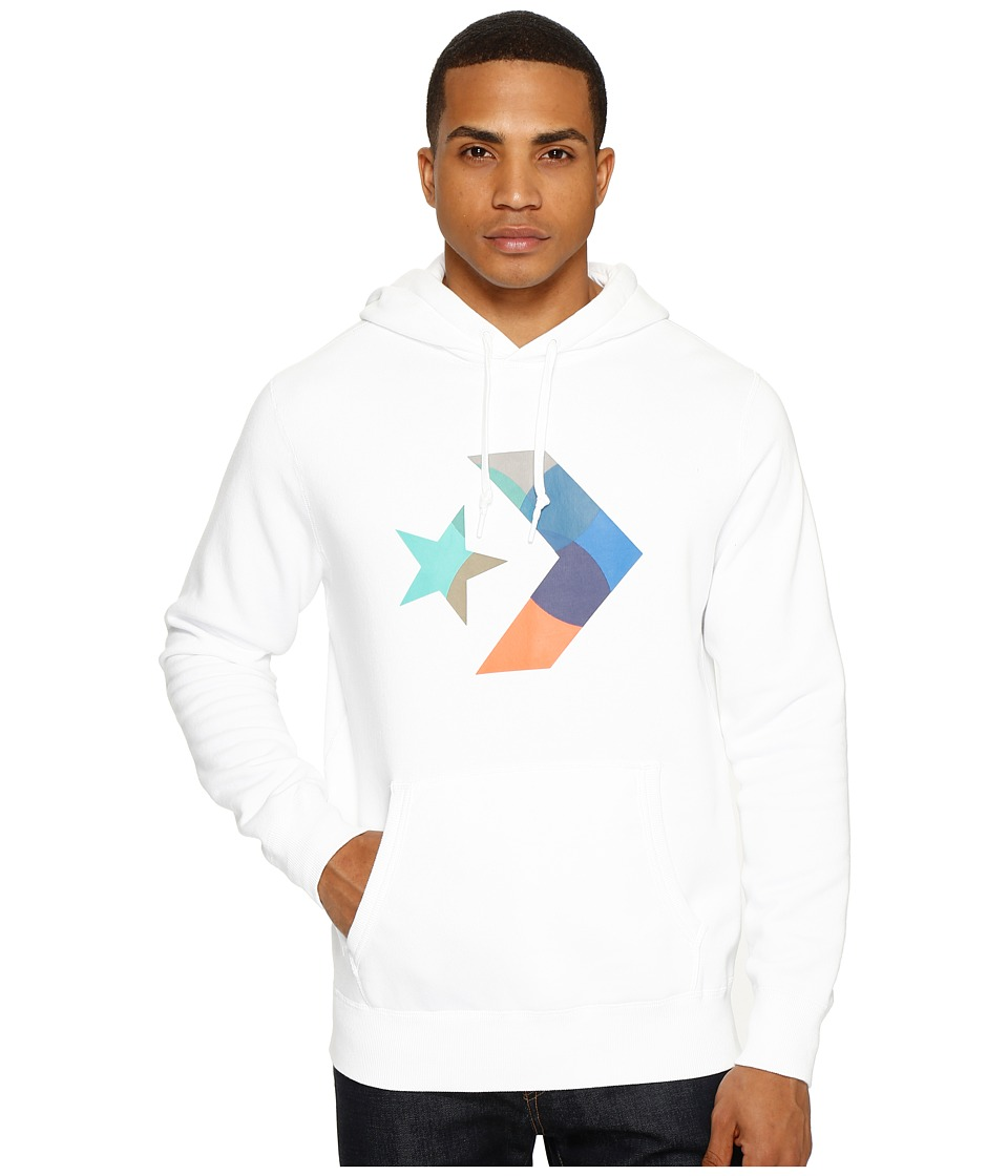 Converse - CONS Star Chevron Fleece Hoodie (White) Men's Fleece