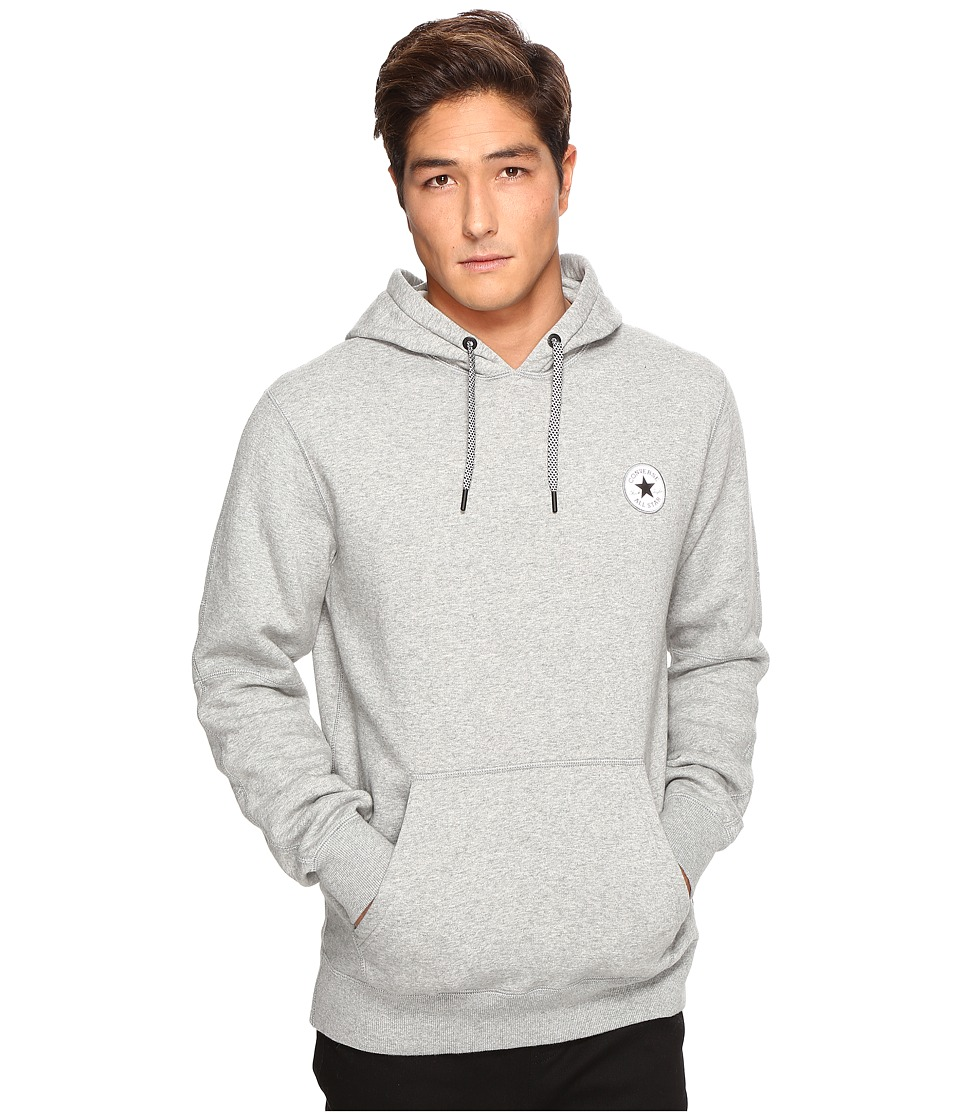 Converse - Reflective Popover Hoodie (Vintage Grey Heather) Men's Sweatshirt