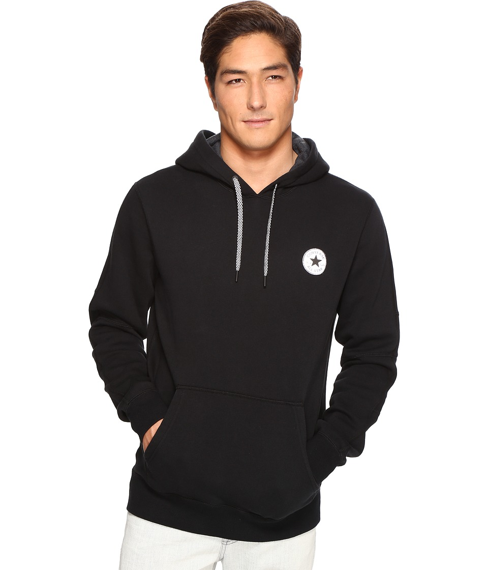 Converse - Reflective Popover Hoodie (Black) Men's Sweatshirt