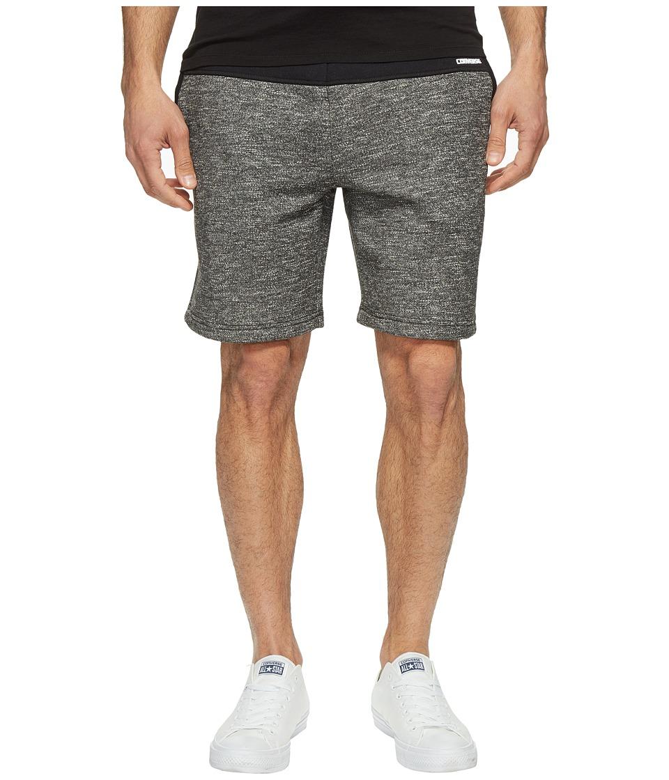 Converse Blocked Marled Fleece Shorts (Black) Men