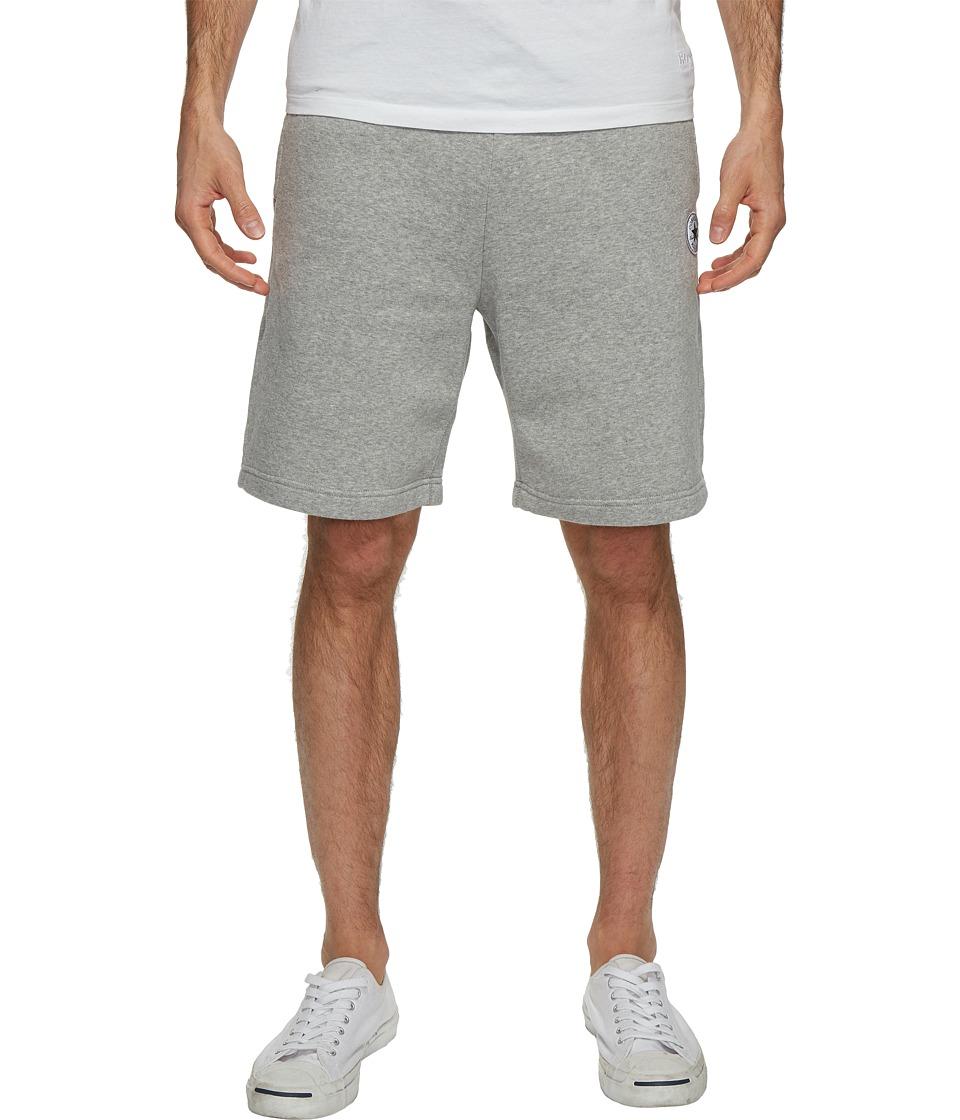 Converse - Core Reflective Fleece Shorts (Vintage Grey Heather) Men's Shorts