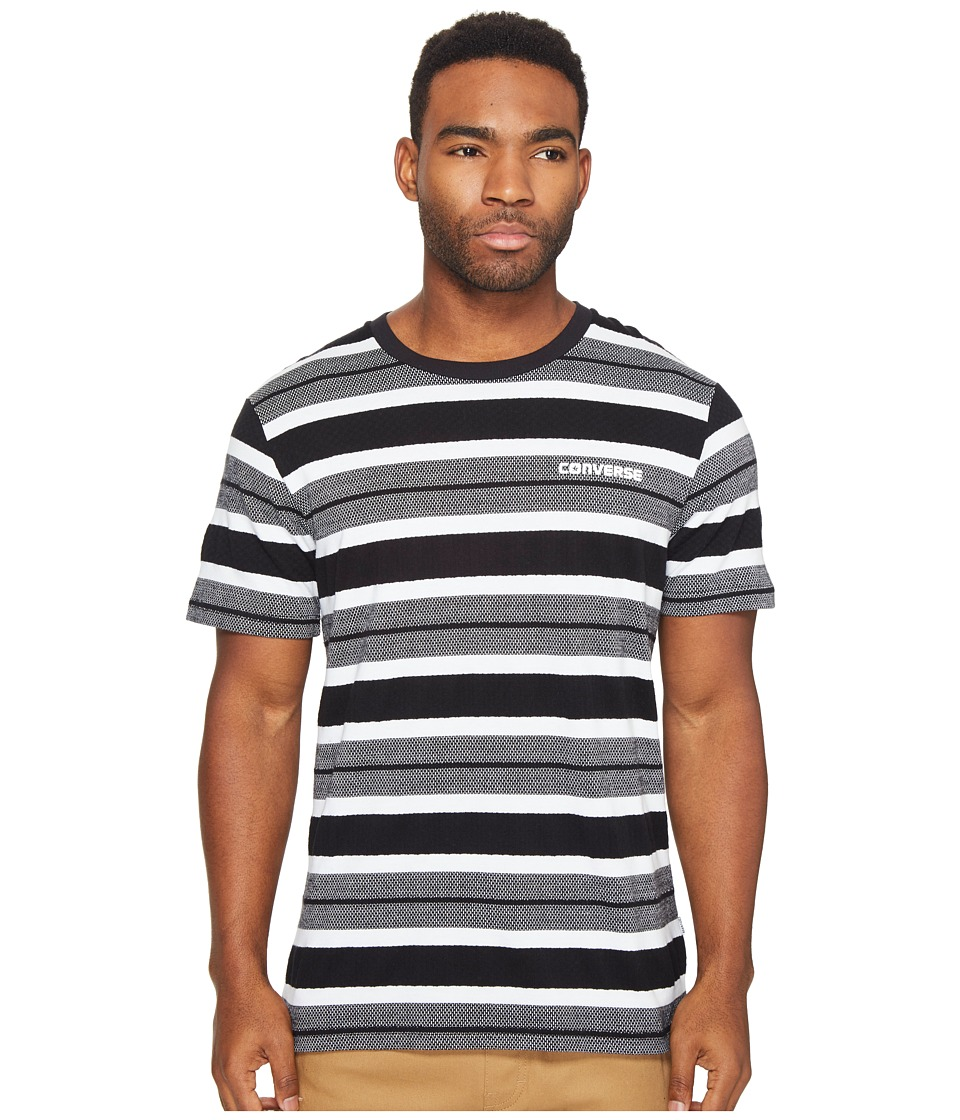 Converse - Engineered Stripe Tee (Black/White Multi) Men's T Shirt