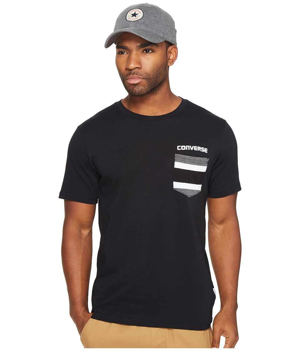 Converse - Striped Pocket Tee (Black) Men's T Shirt