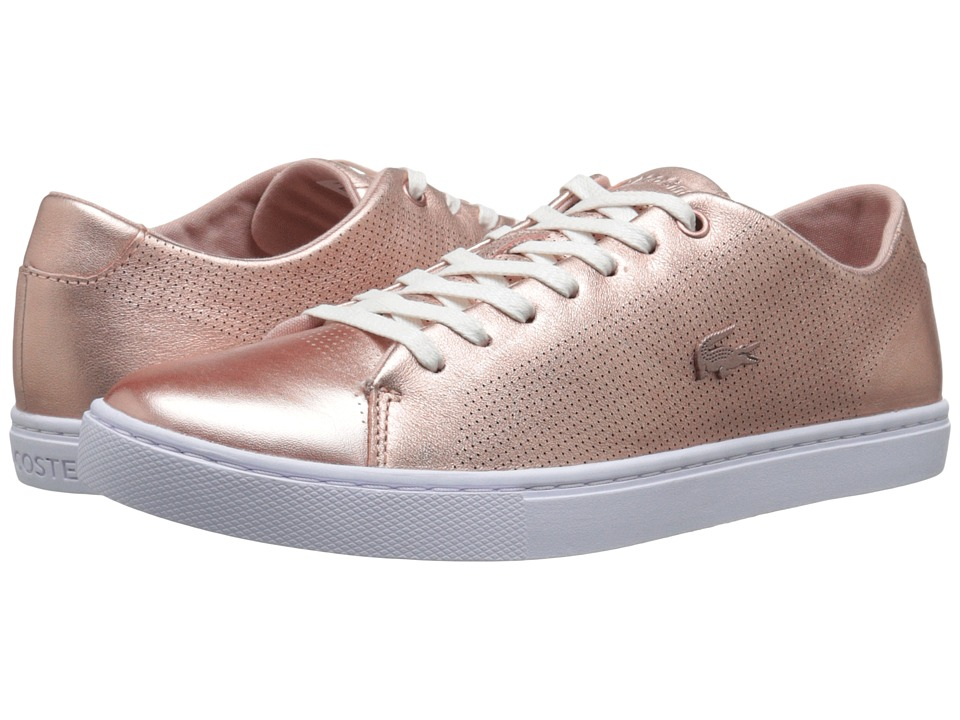 Lacoste - Showcourt Lace (Pink) Women's Lace up casual Shoes