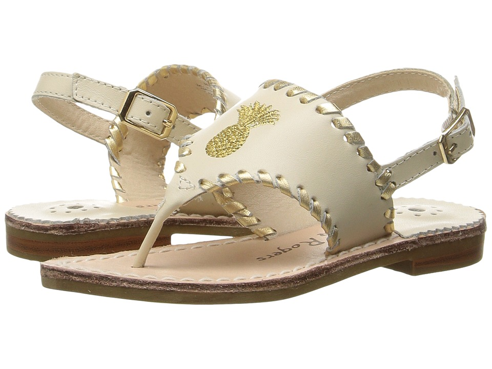 Jack Rogers - Little Miss Pineapple (Toddler/Little Kid) (Bone/Gold) Women's Sandals