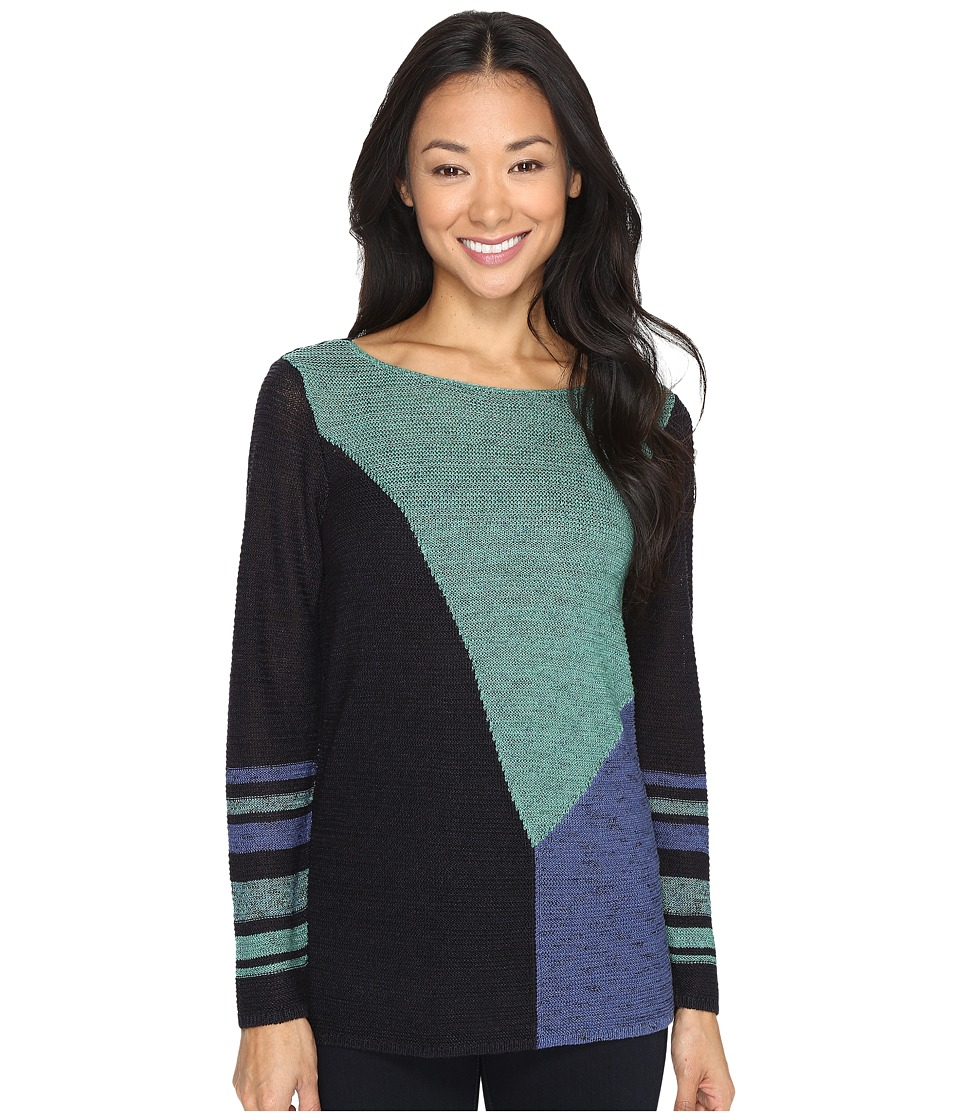 NIC+ZOE - Patchwork Top (Absinthe) Women's Clothing
