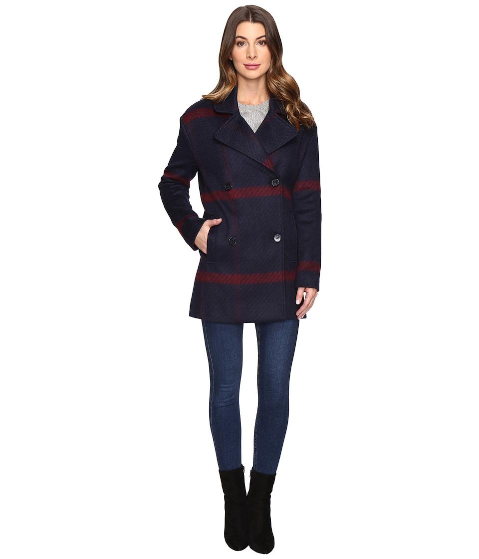 Tommy Hilfiger - Graphic Plaid Coat (Plaid) Women's Coat