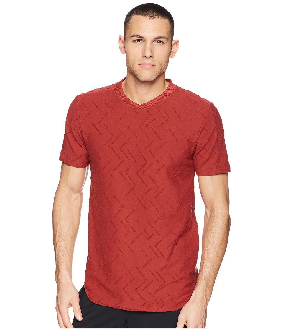 adidas Jacquard Tee (Mystery Red) Men