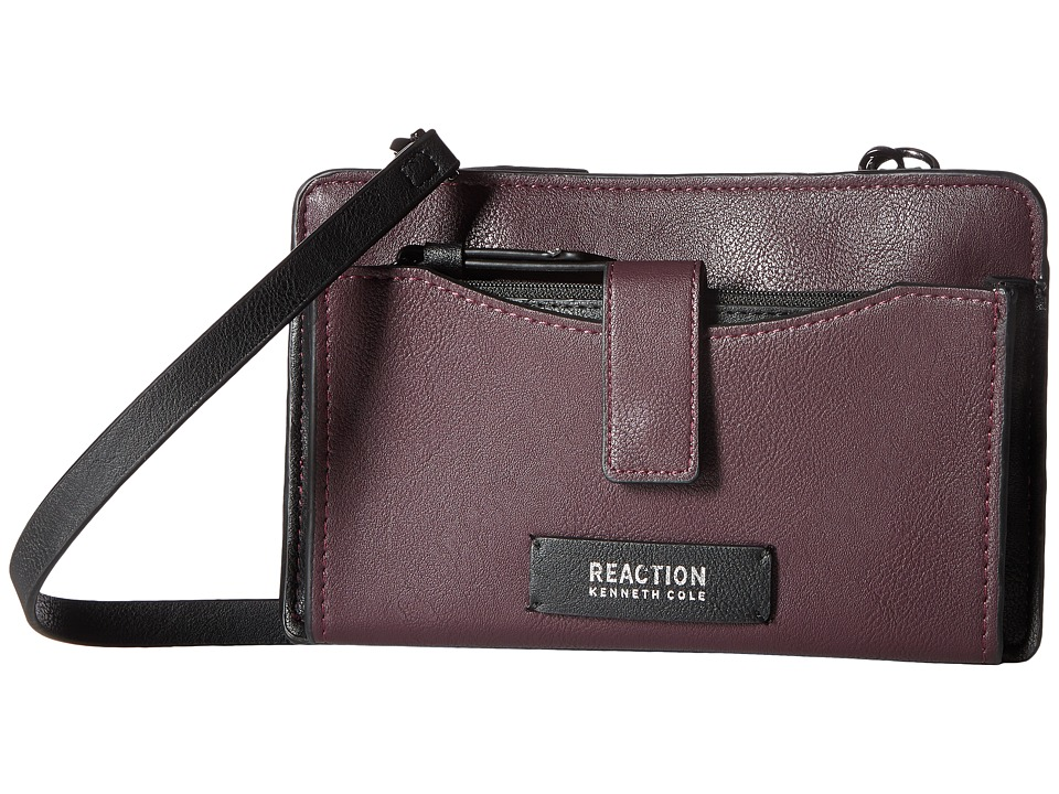 Kenneth Cole Reaction - Squared Off Crossbody w/ RFID Phone Charger (Blackberry) Cross Body Handbags