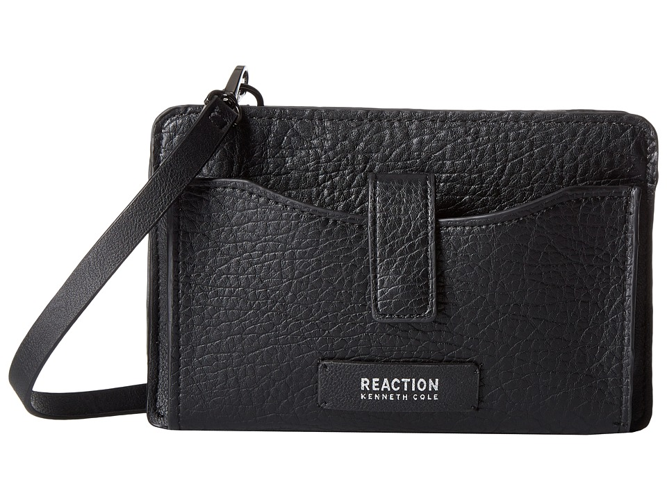 Kenneth Cole Reaction - Squared Off Crossbody w/ RFID Phone Charger (Black) Cross Body Handbags