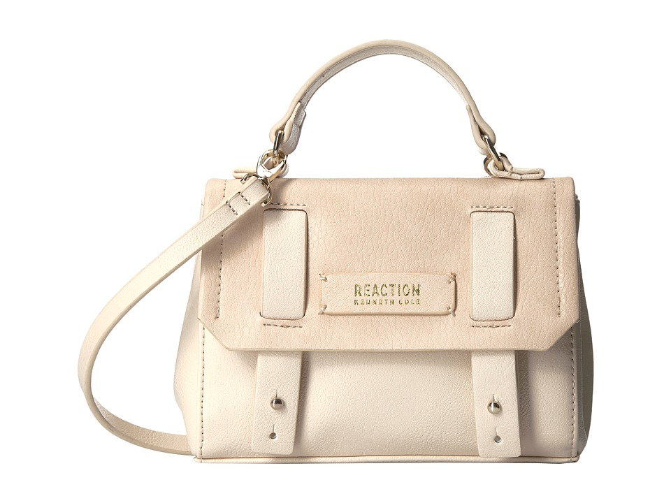 Kenneth Cole Reaction - Pull Through Top-Handle Mini Crossbody w/ RFID (Vanilla) Cross Body Handbags