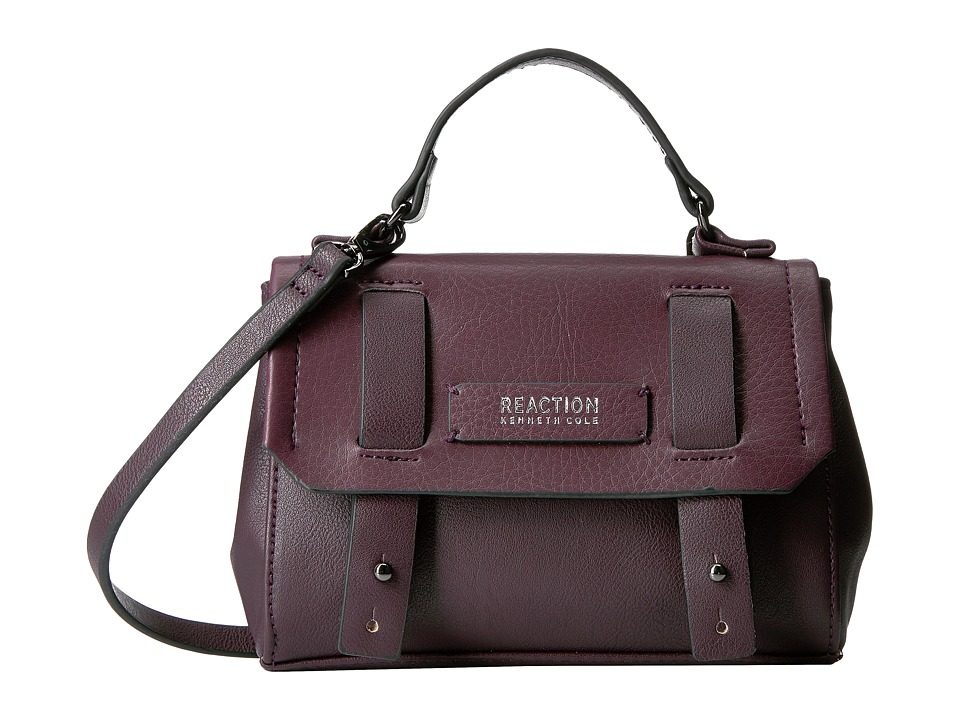 Kenneth Cole Reaction - Pull Through Top-Handle Mini Crossbody w/ RFID (Blackberry) Cross Body Handbags