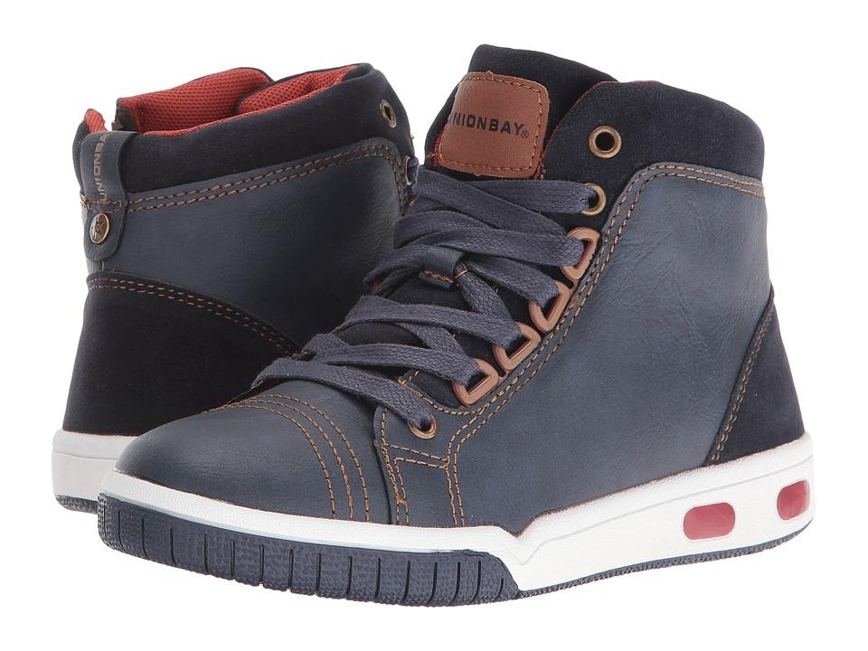 UNIONBAY Kids - Kittitas High Top Sneaker (Toddler/Little Kid/Big Kid) (Navy) Boy's Shoes