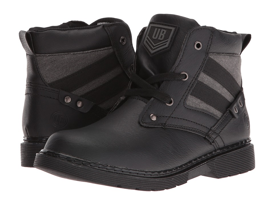 UNIONBAY Kids - Steeler High Top Sneaker (Toddler/Little Kid/Big Kid) (Black) Boy's Shoes