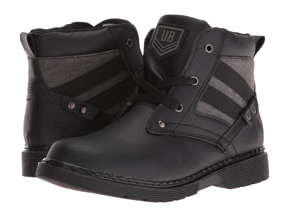 UNIONBAY Kids Steeler High Top Sneaker (Toddler/Little Kid/Big Kid) (Black) Boy